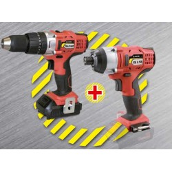 Set Hammer Drill & Pulse 2.0Ah Li-Ion 18V (2 batteries)